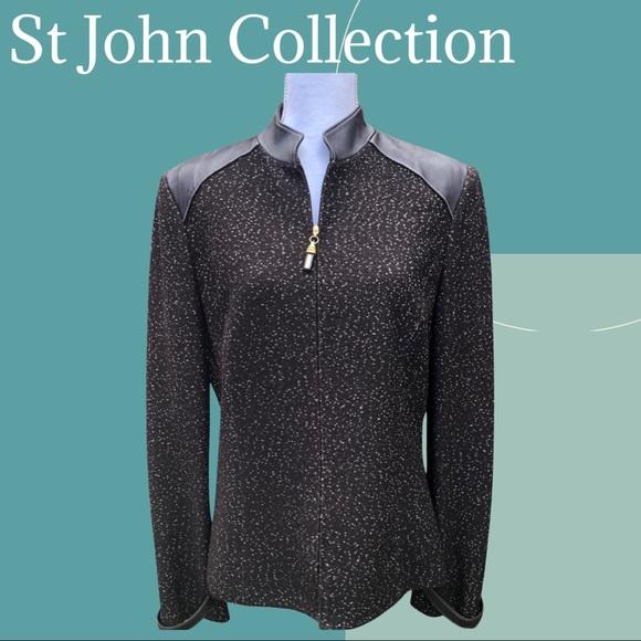 St John Collection Tweed Coat